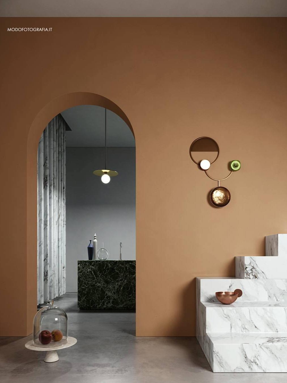 Disc and sphere     pendant light | 140OL-P