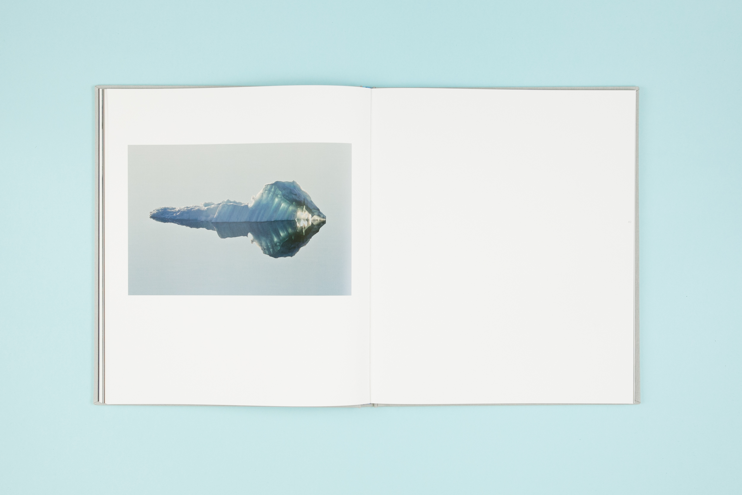 Book spread from self-published photobook 'Out of Thin Air' featuring photography by Daragh Muldowney and design by Read That Image.