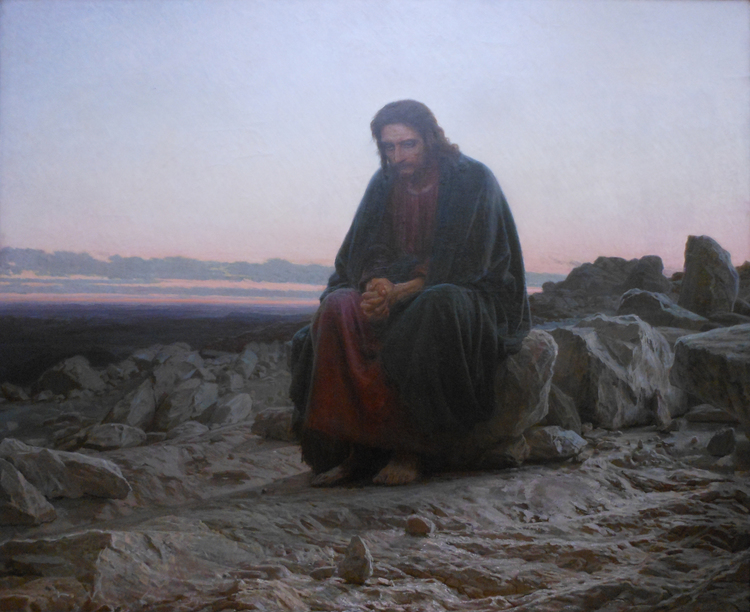 KRAMSKOY, christ in the wilderness
