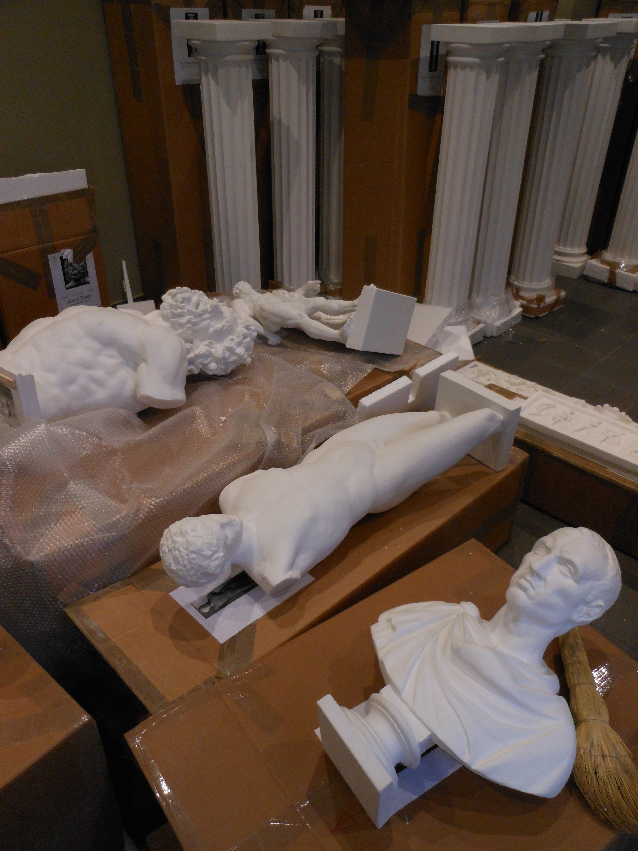Cast deliveries. Busts, columns, all sorts.
