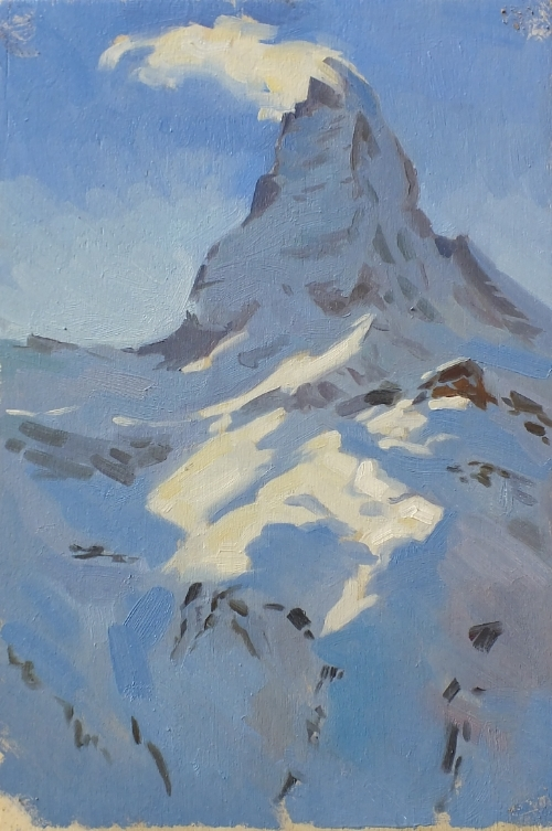 Matterhorn at Noon. 20x30cm