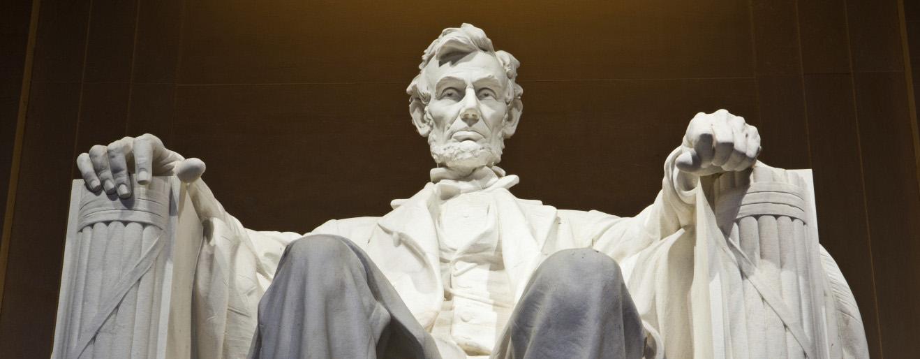 Lincoln Memorial, Washington.  Daniel Chester French  (1850-1931)