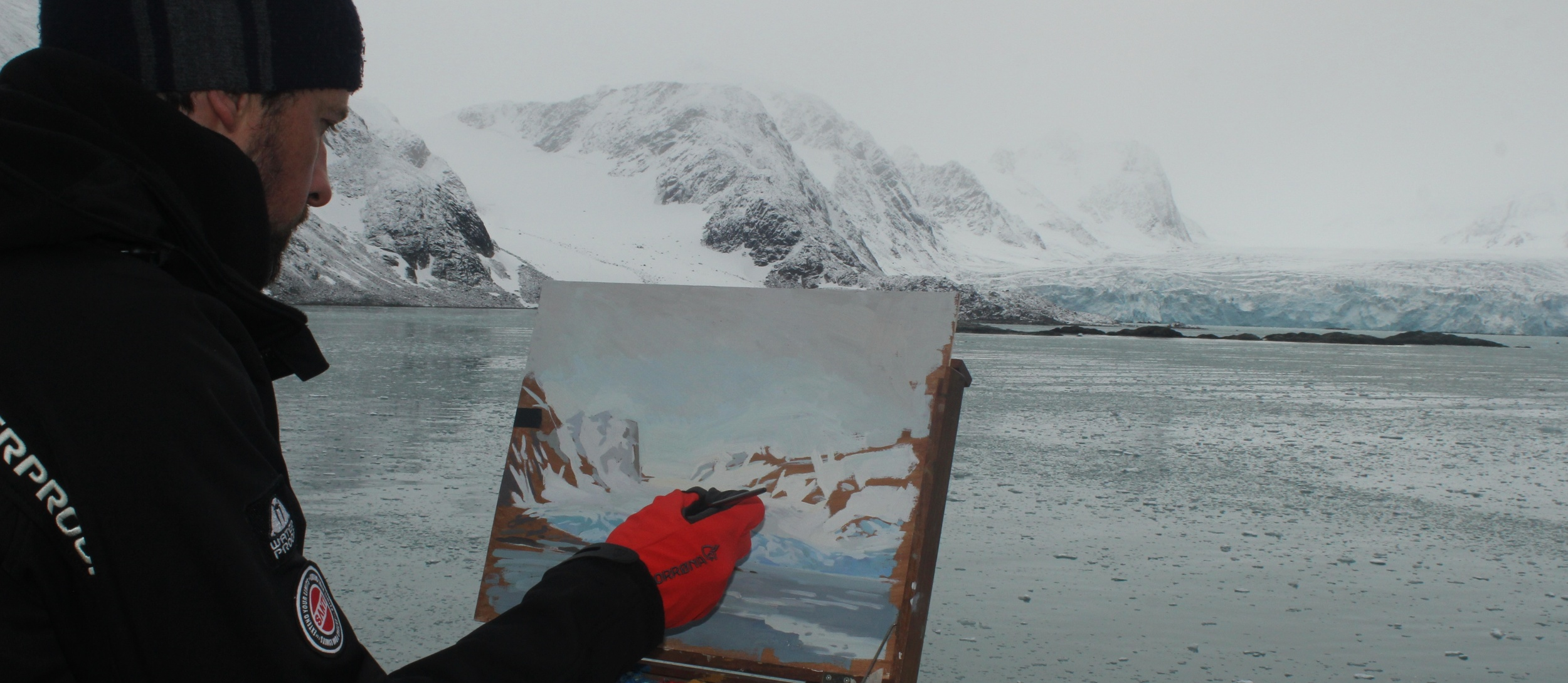 Painting in the Arctic.