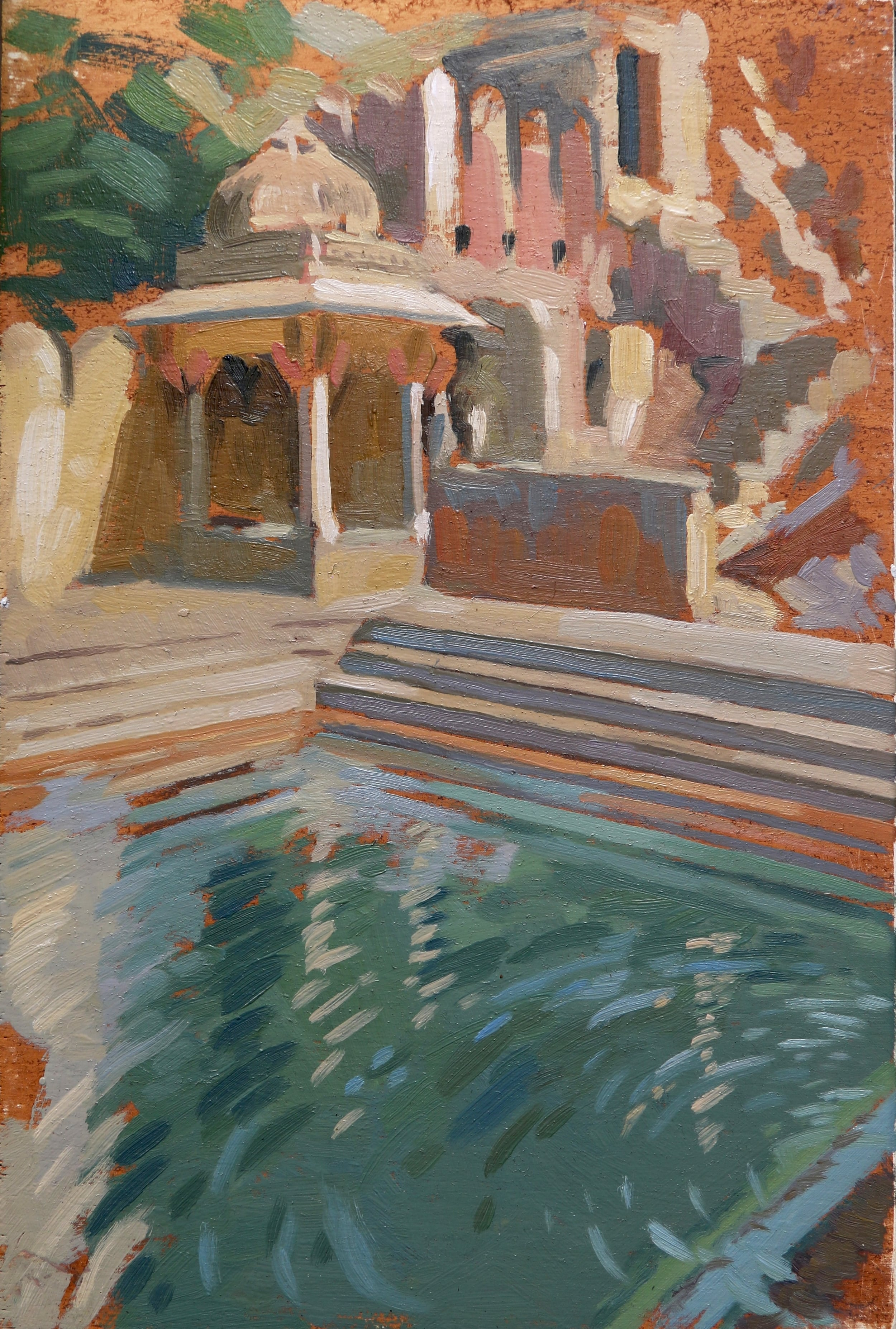 monkey temple pool, 20x30cm, oil on board.jpg
