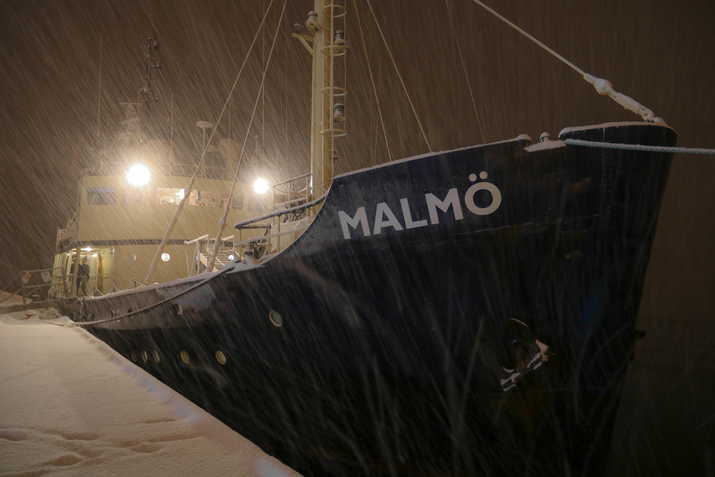 The Malmö in the port of Narvik.