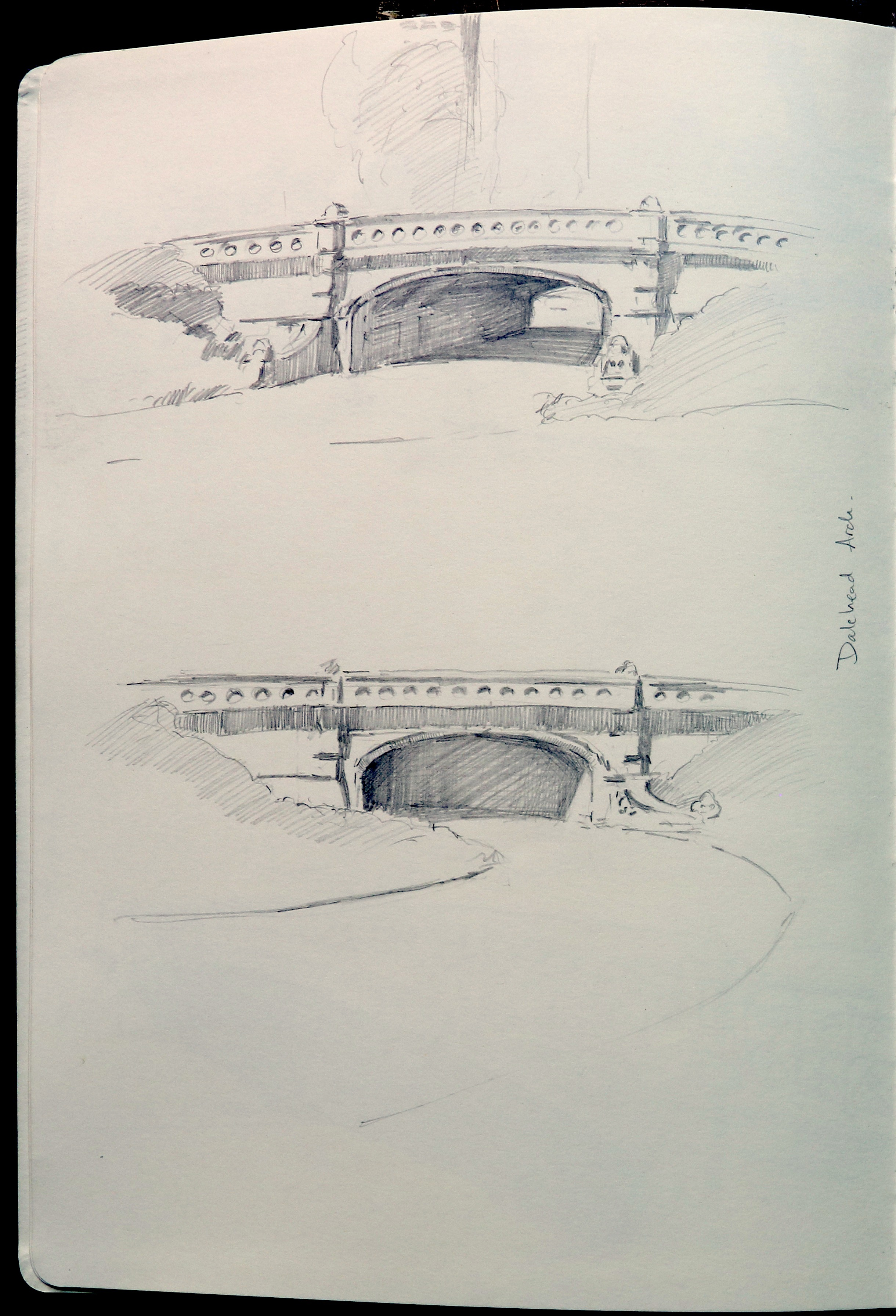 DALEWOOD ARCH . Built 1860 - 1862 by Calvert Vaux. Stone arch vehicle bridge.