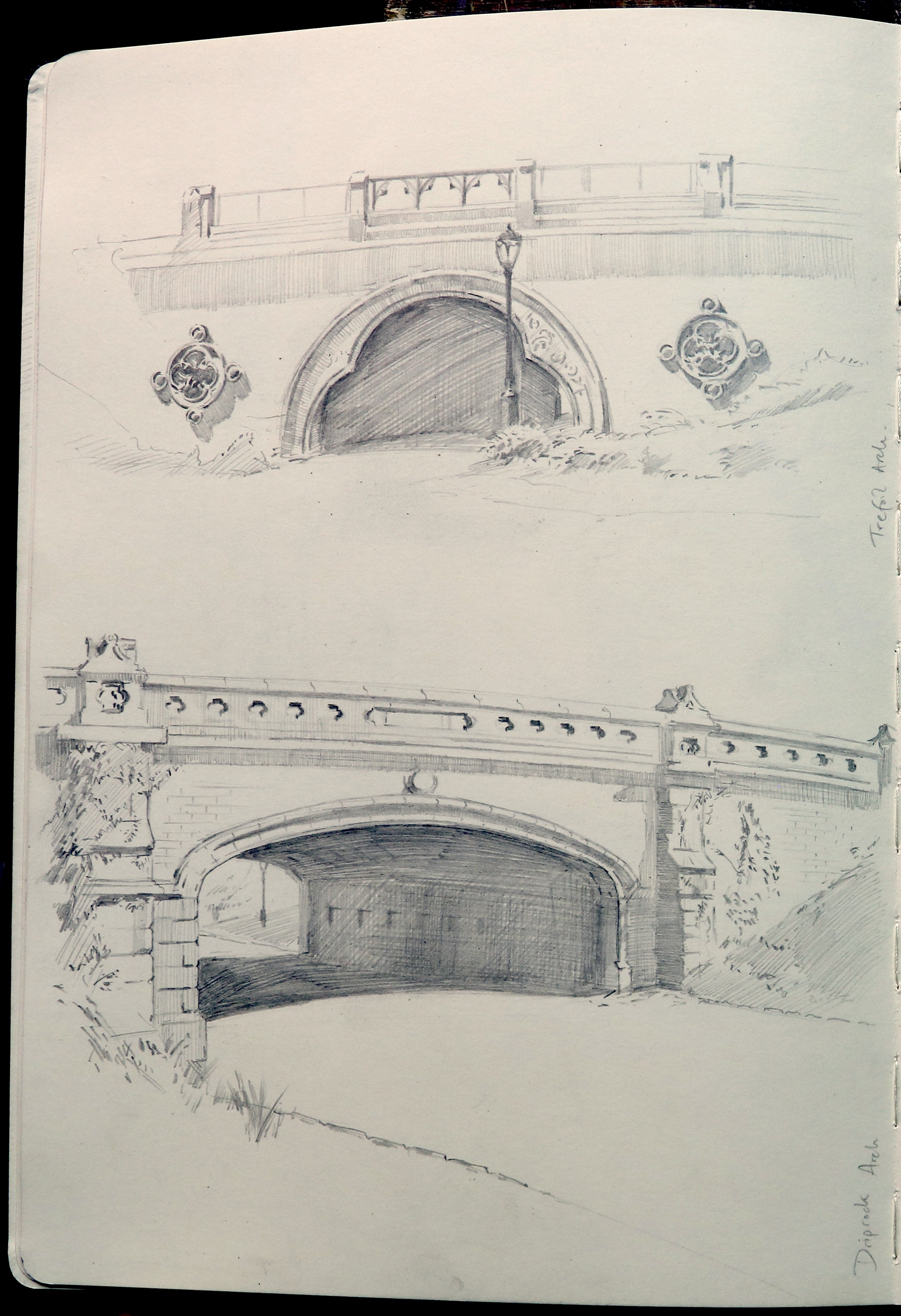 TREFOIL ARCH , built in 1862 by Calvert Vaux and Jacob Wrey Mould.  DRIPROCK ARCH