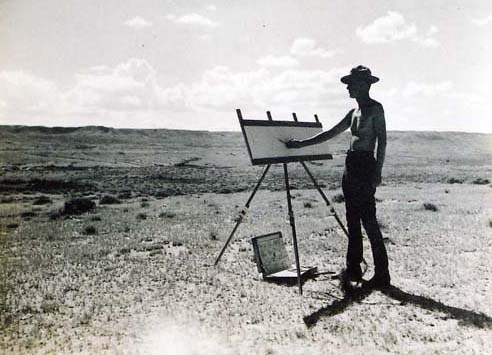 James Perry Wilson working at the Bison site.
