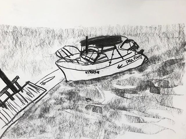 Some drawings from a couple days Sag Harbor