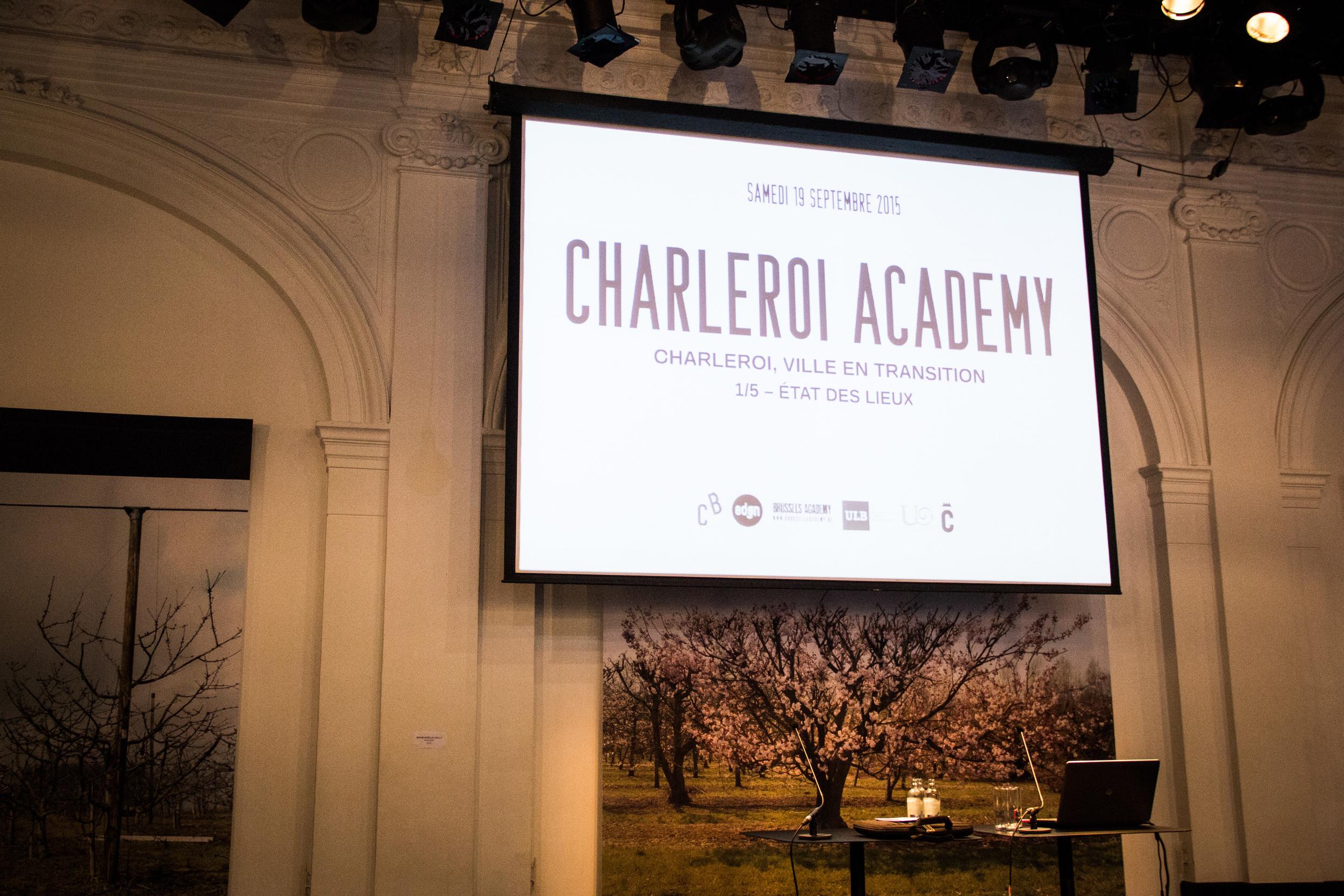 CHARLEROI ACADEMY   Charleroi Academy est un cycle de cinq rencontres organisées par Charleroi Bouwmeester, l'EDEN, Brussels Academy, la Faculté d'Architecture de ULB, l'Université Ouverte et la Ville de Charleroi.   charleroi-academy.be