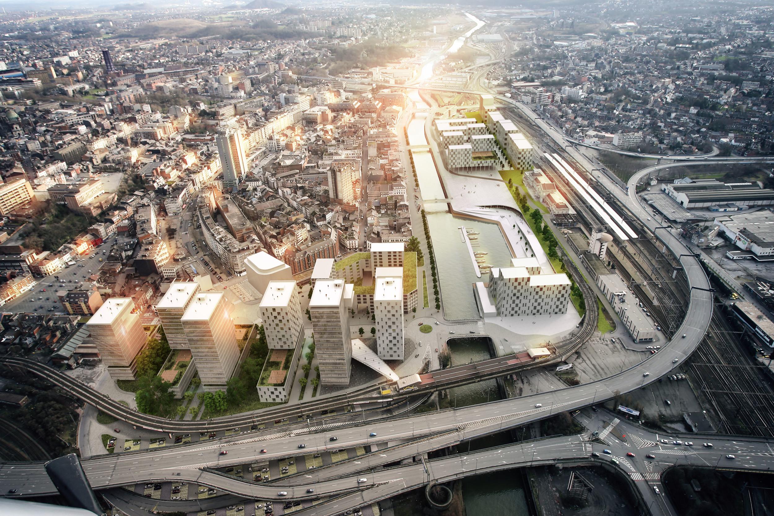 LEFT SIDE BUSINESS PARK   Le projet Left Side Business Park est un projet ambitieux et important pour Charleroi dans la mesure où il envisage un enjeu jamais assumé à ce jour : construire une véritable interface urbaine habitée entre le Centre-Ville et l'infrastructure du Ring. Le projet urbanistique vise à réaliser en entrée de ville un nouveau pôle mixte de bureaux, de logements et de commerces. Ce nouveau pôle se caractérise par une forte densité bâtie, motivée par l'excellente qualité de la desserte en transports publics, contrebalancée par un espace public maillé, vaste et généreux.  + d'informations