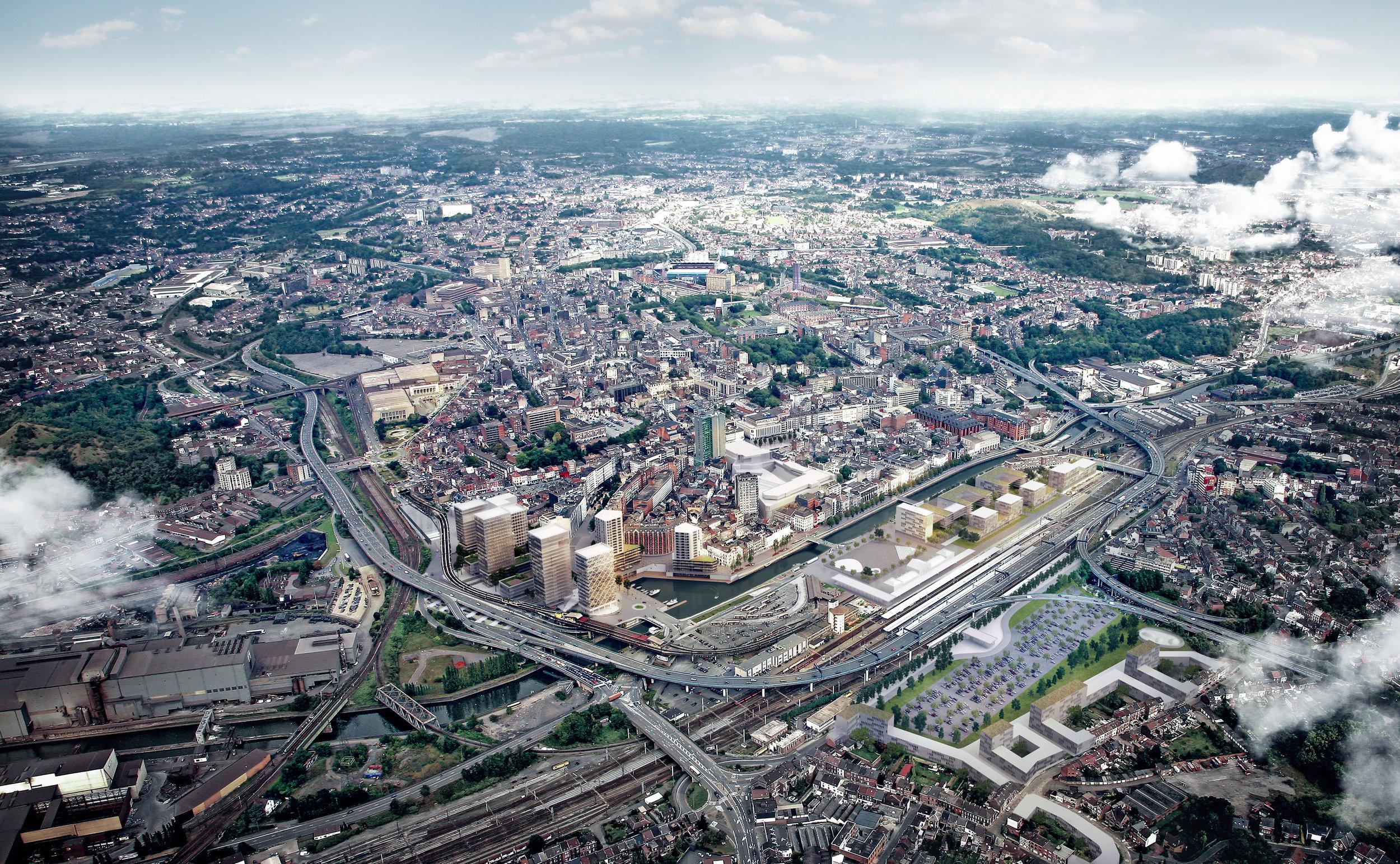"""MASTER """"LES RIVES DE CHARLEROI""""   Le quartier de la gare de Charleroi dévoile son futur visage. Le masterplan, dessiné par le bureau d'architecture et d'urbanisme  MSA , marque l'ambition de la Ville d'étirer les grands projets au delà du centre et de remettre la Sambre au cœur de la Ville-Basse.   + d'informations"""