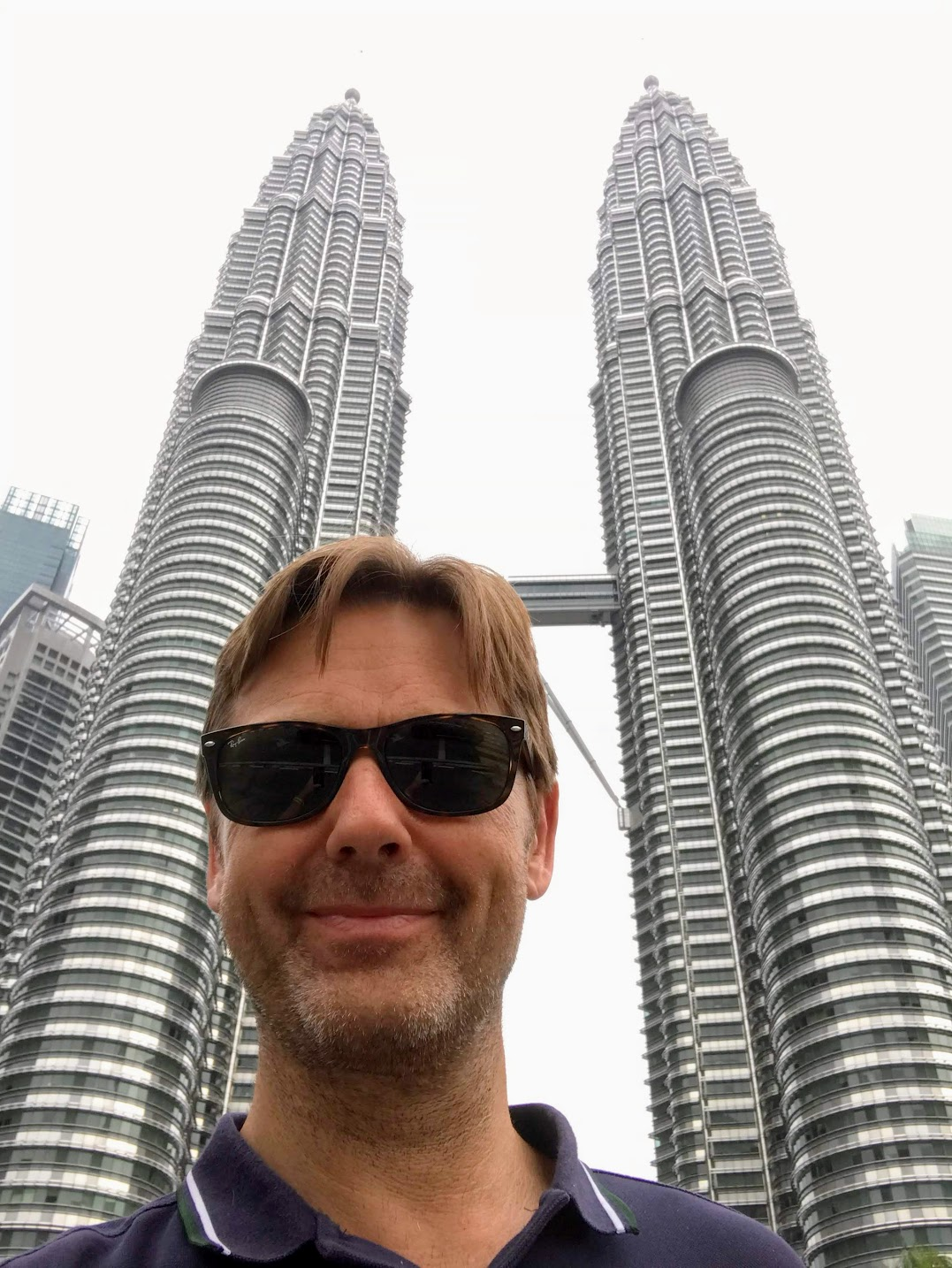 Alexander Koene, proud founder of BR-ND, in front of Petronas Twin Towers in KL