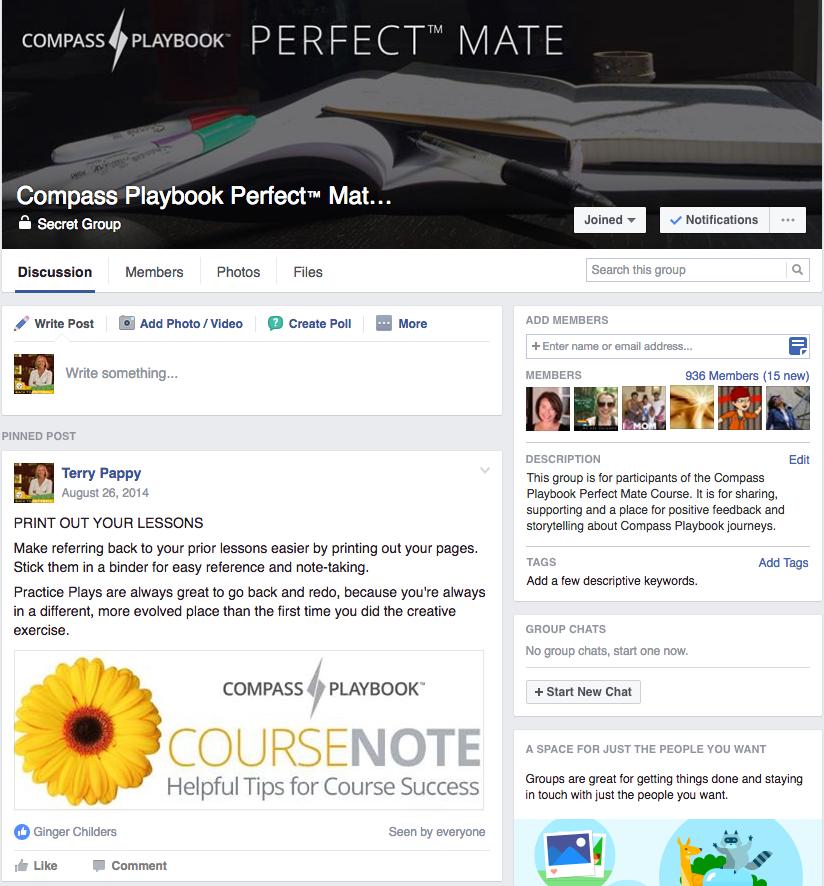 Compass Playbook Perfect Mate Facebook Group