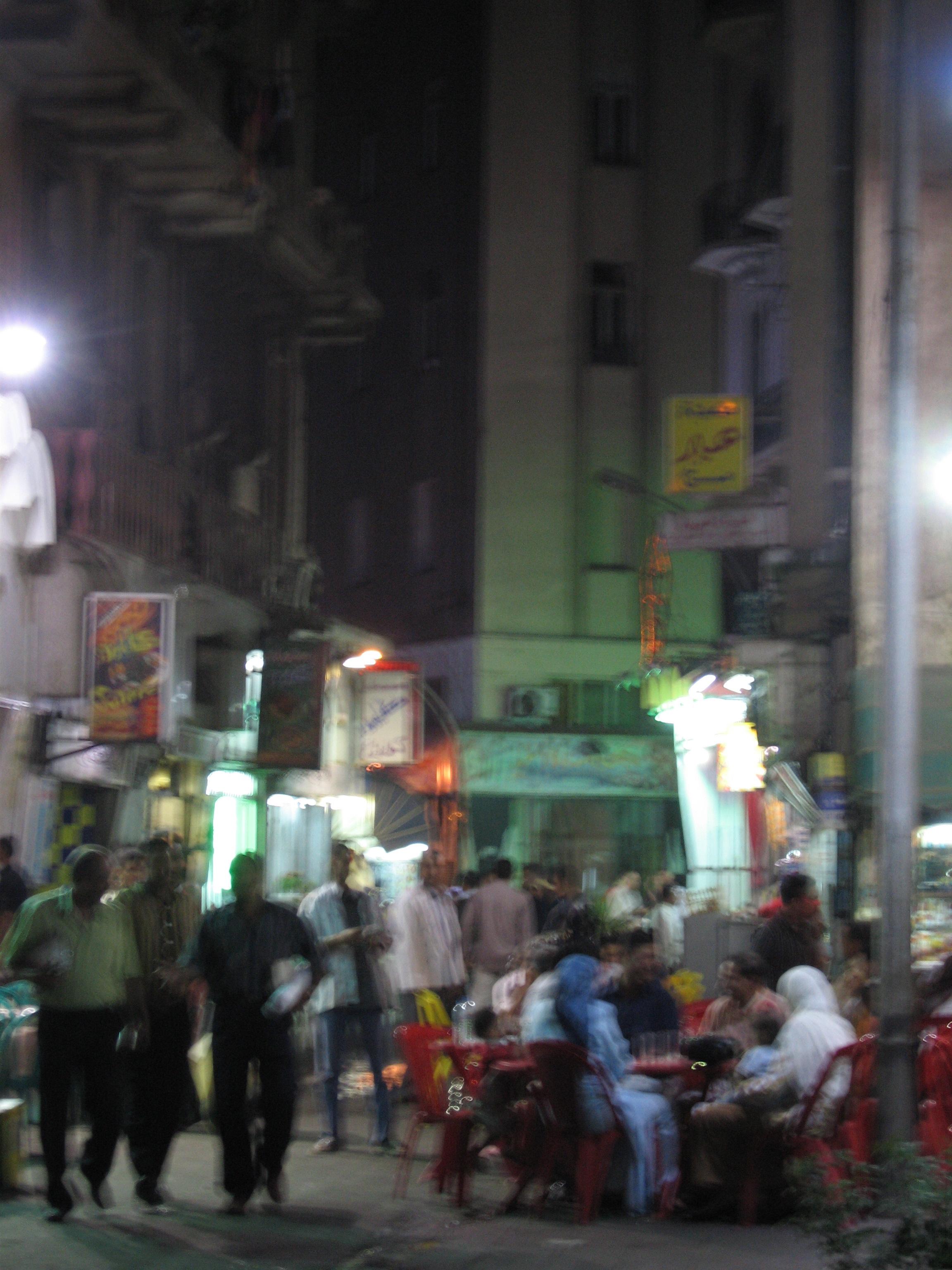 Tawfiqiyya by Night. Cairo. ©Elliott Colla (2005)