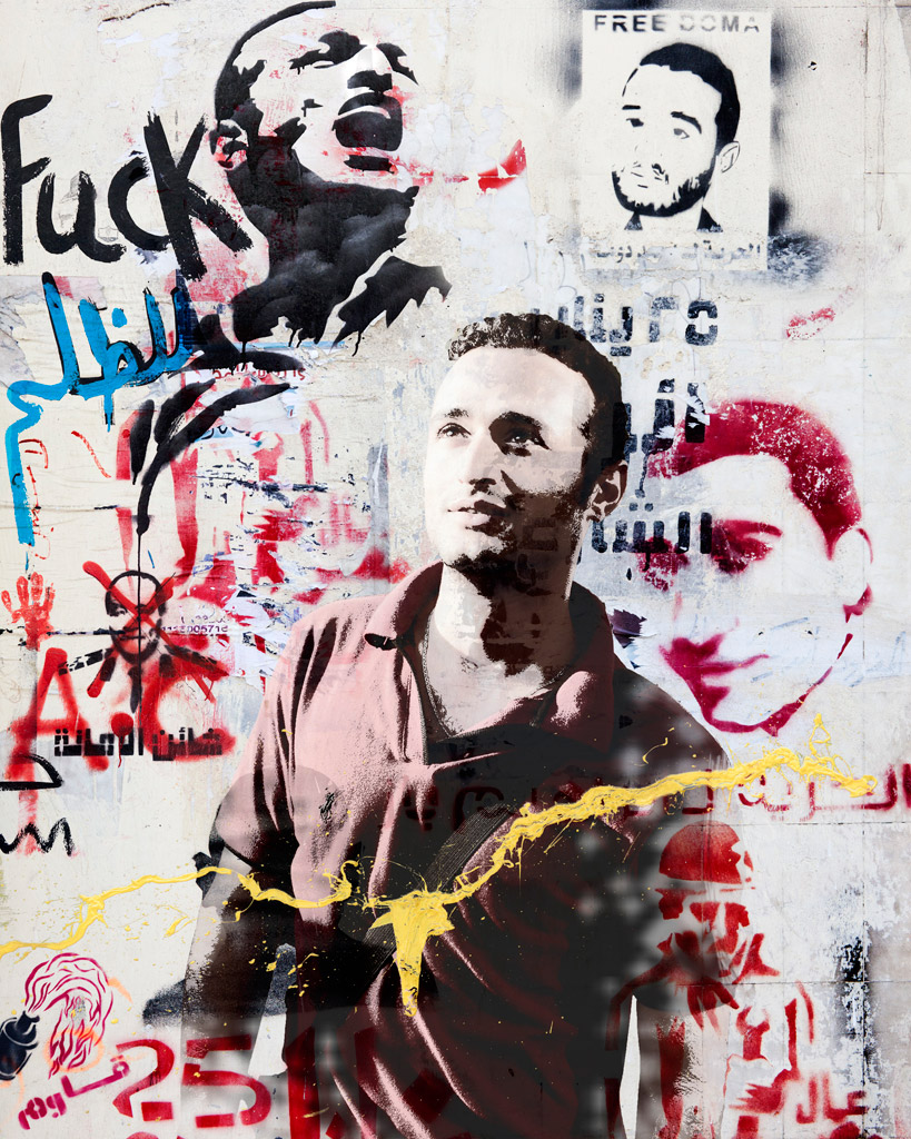 """Ahmed Douma"" photomontage, © Johann Rousselot    (image from: http://www.loeildelaphotographie.com)"