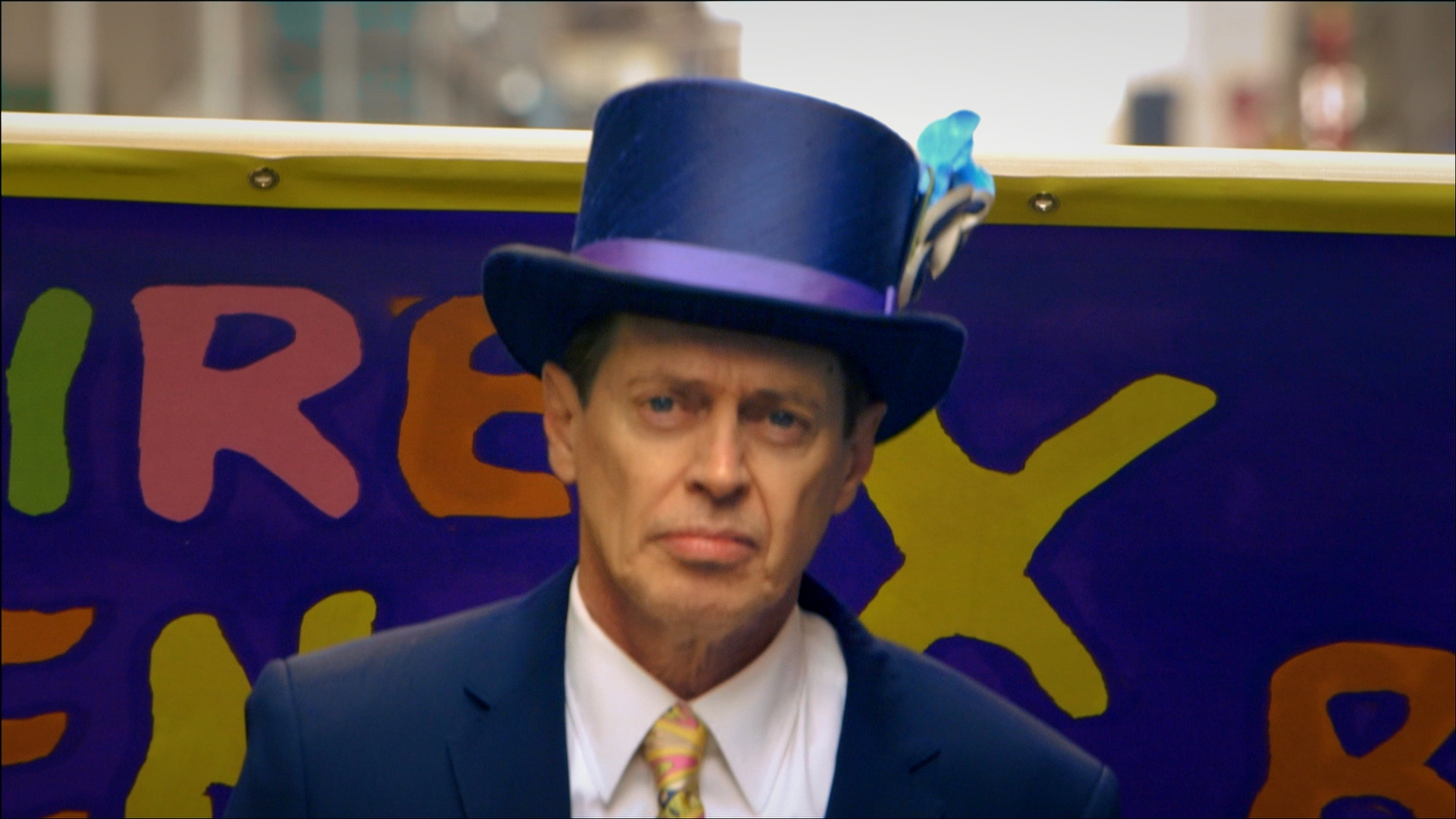 Steve Buscemi marches in the Easter Day Parade.
