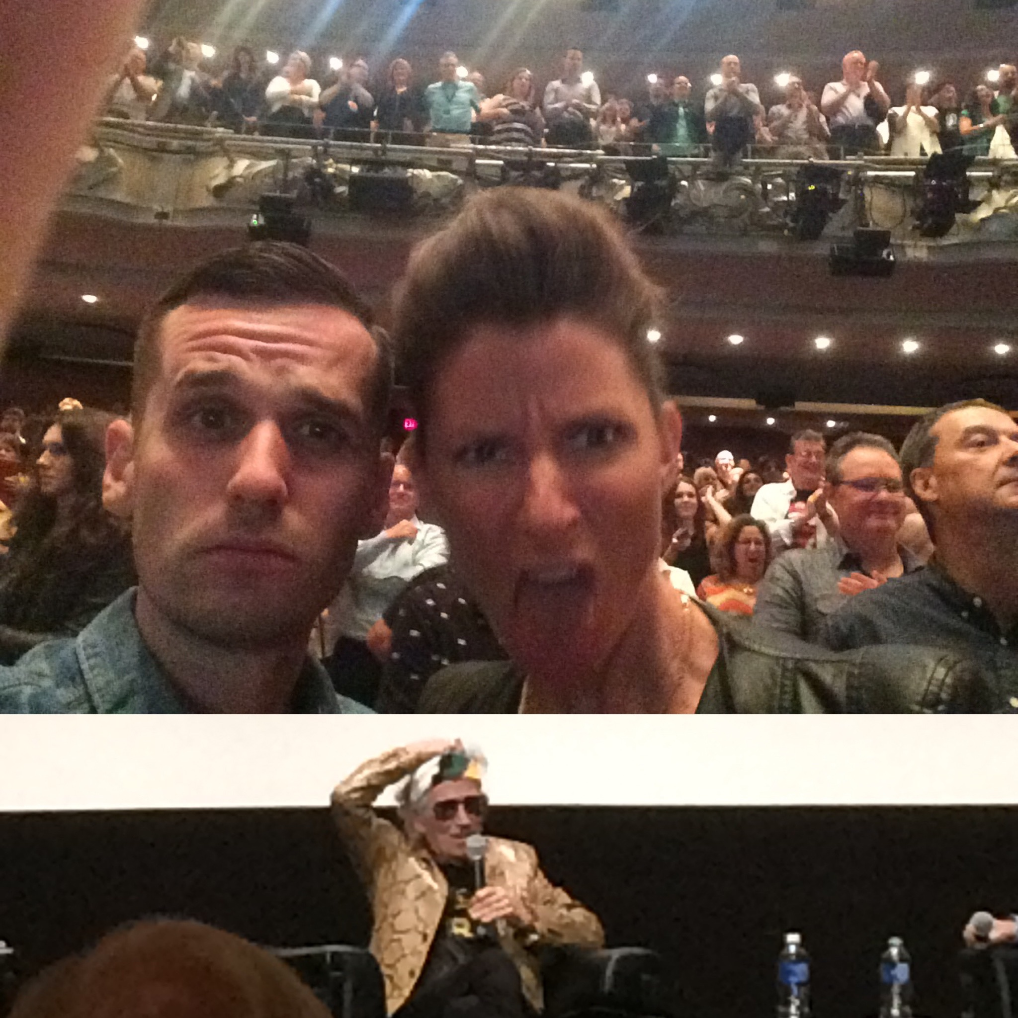 My wife and I rocking out to a standing ovation with Keith Richards