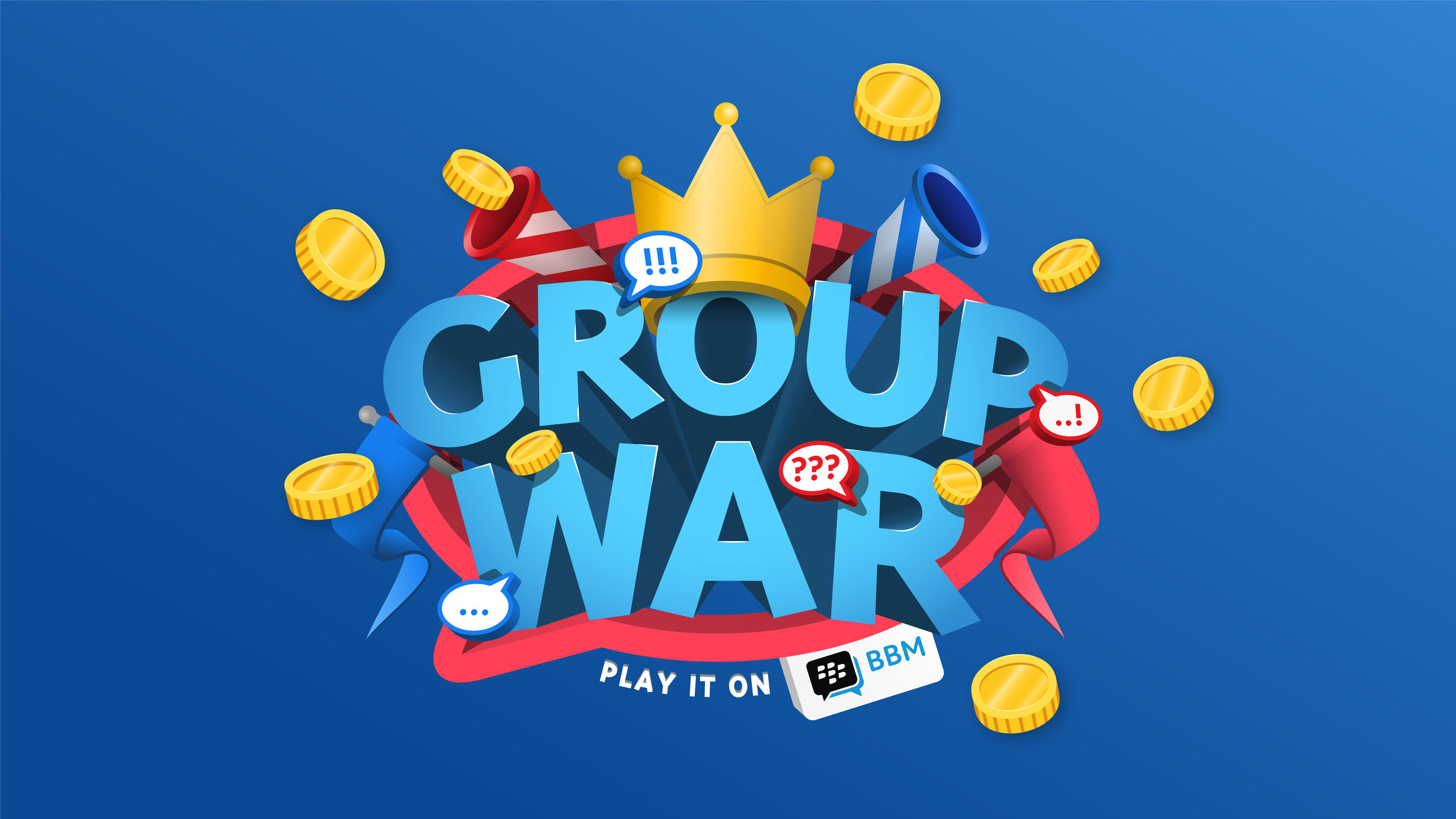 Group War   The first chat-based quiz by BBM.