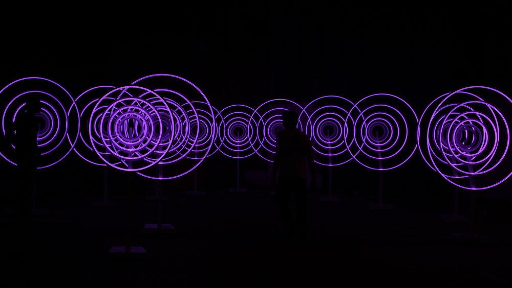 Audio light installation