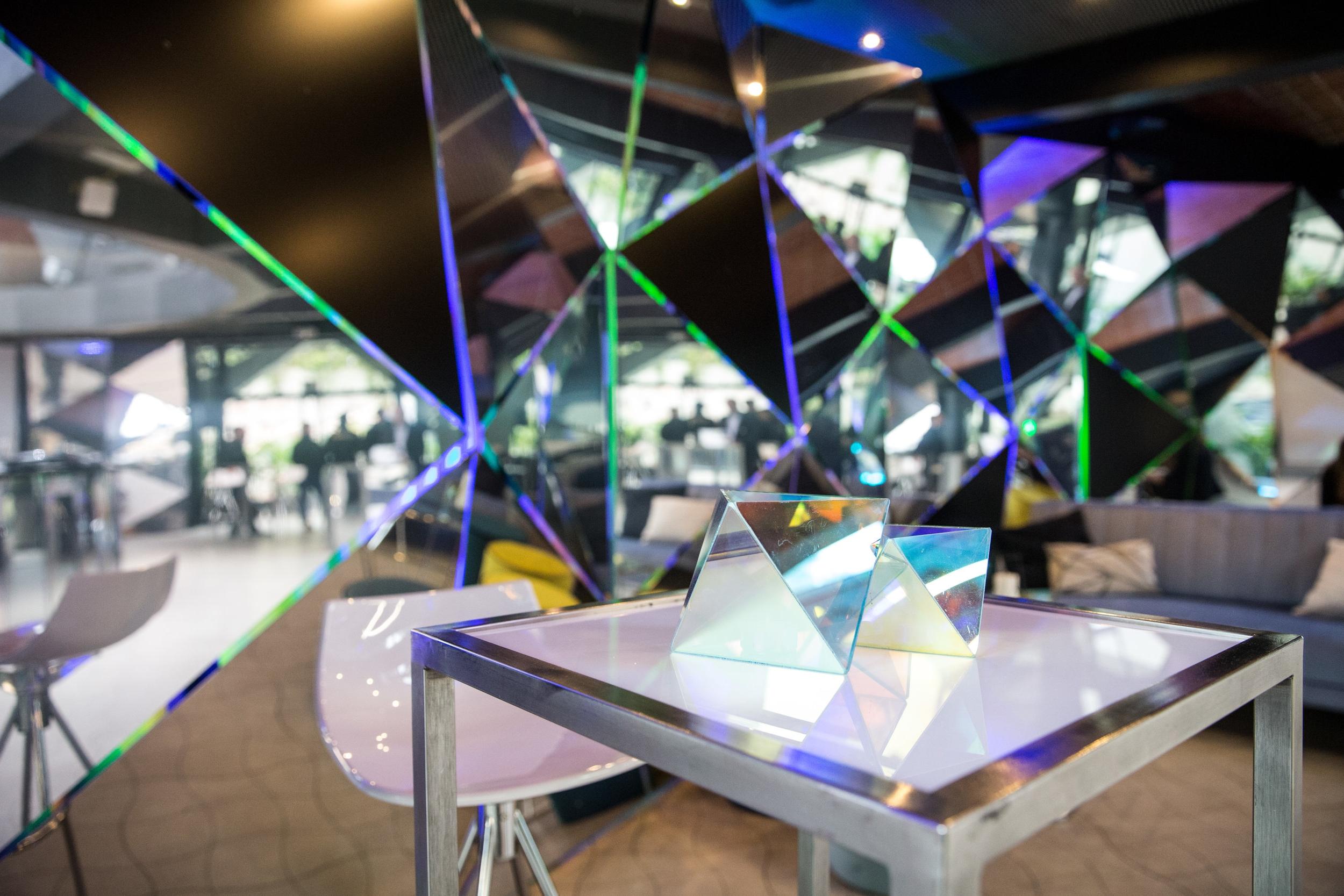Triangular creative installation