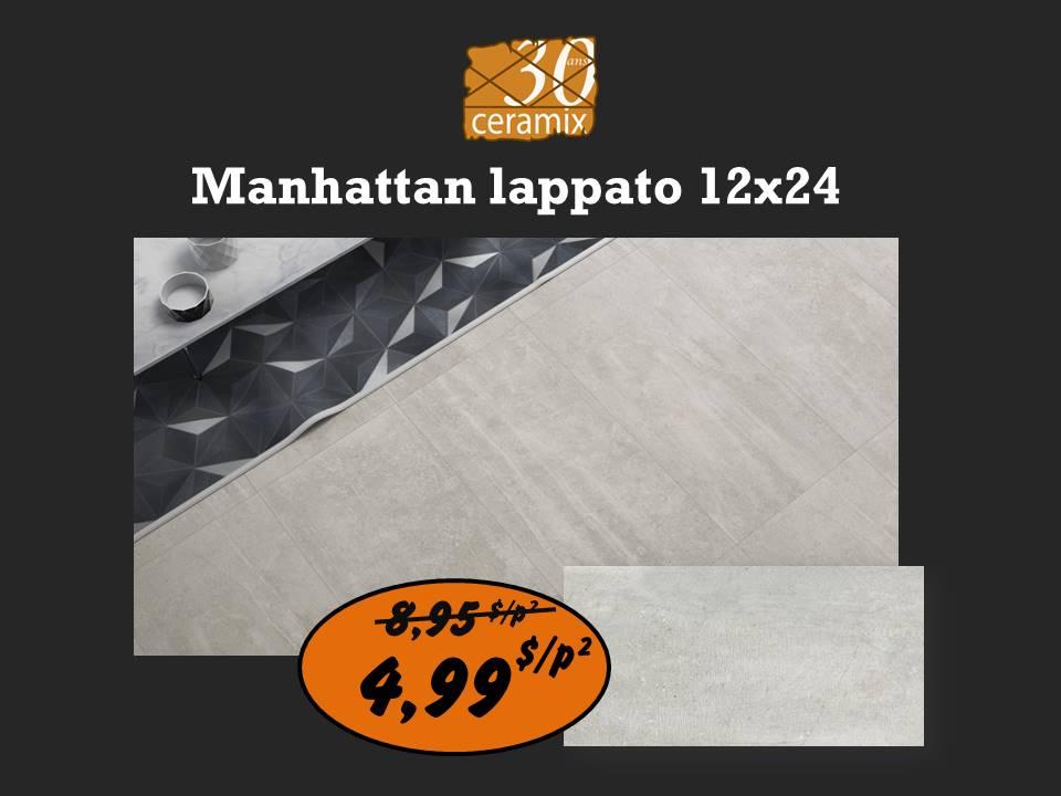 Manhattan lappato 12x24 ou 24x24