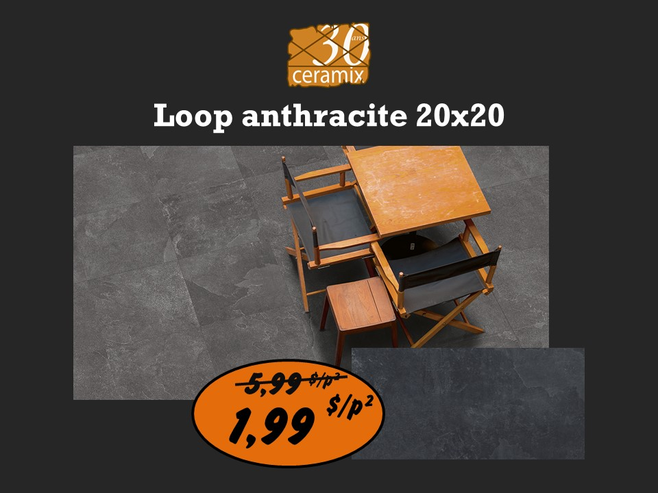 Loop anthracite 20 x 20 - 1,99$/pc