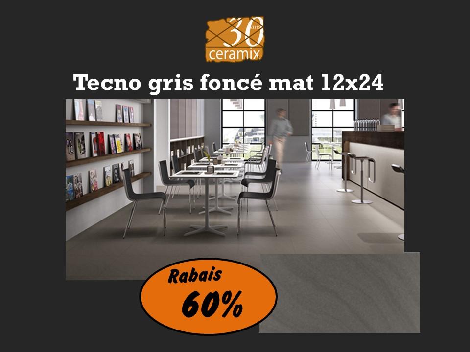 Tecno gris foncé 12x24 - 1,99 $/pc