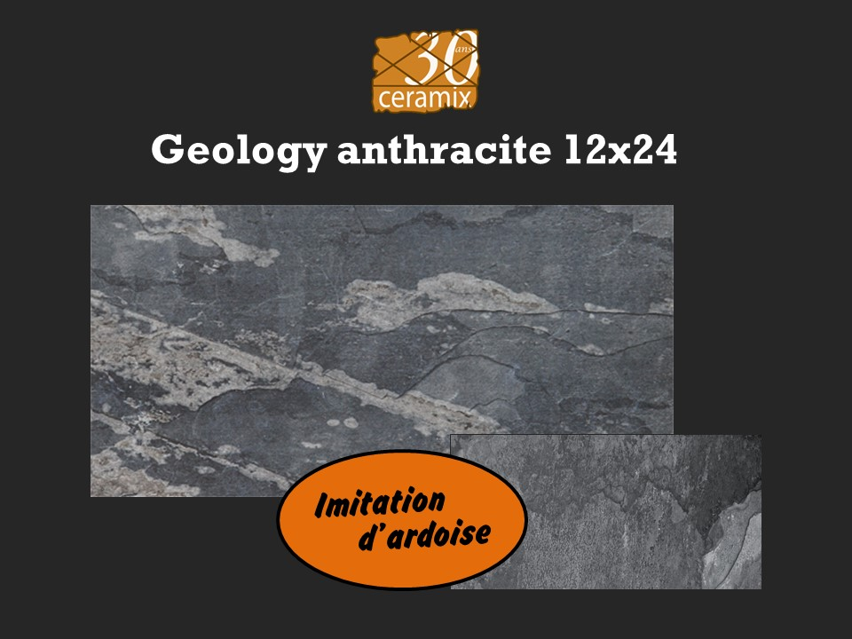 Geology anthacite 12x24 - 1,99 $/pc