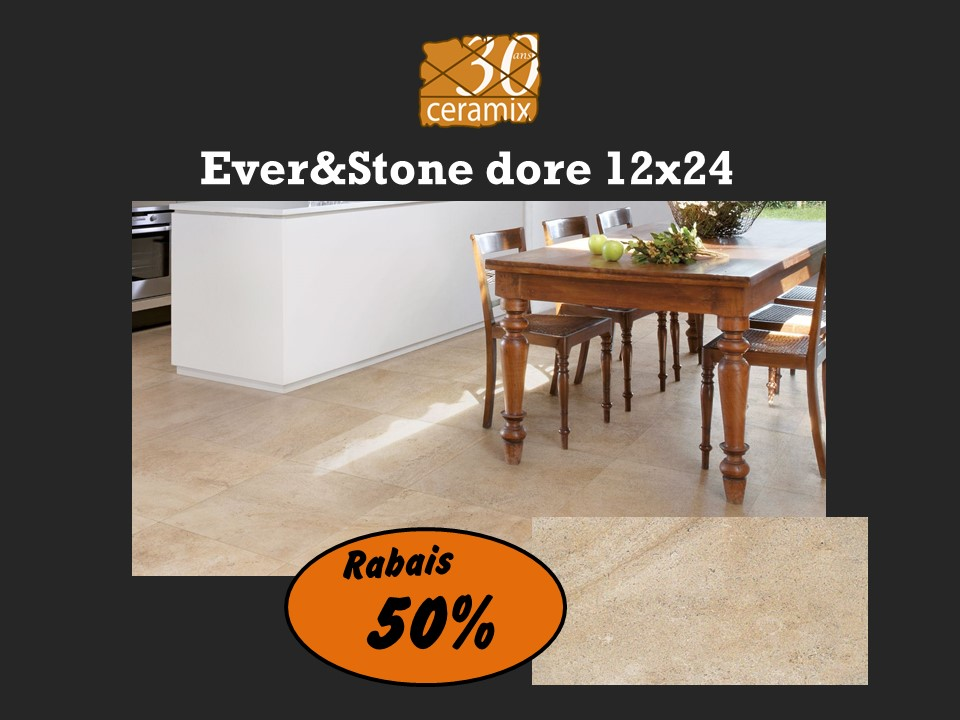 EverStone doré 12x24 - 1,69$/pc