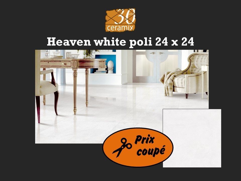 Heaven white poli 24x24 - 2,99$/pc