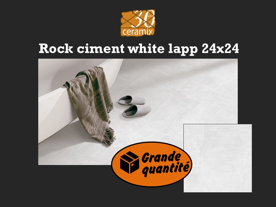 Rock ciment white 24x24 - 2,49$/pc
