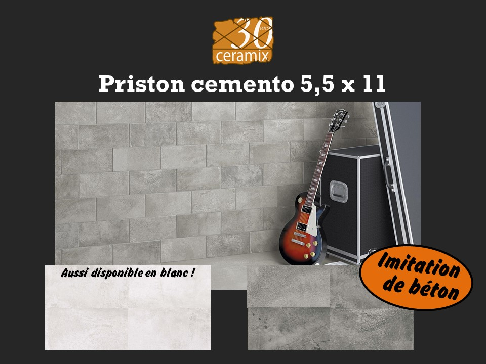 Priston cemento 5,5x11 - 1,89$/pc