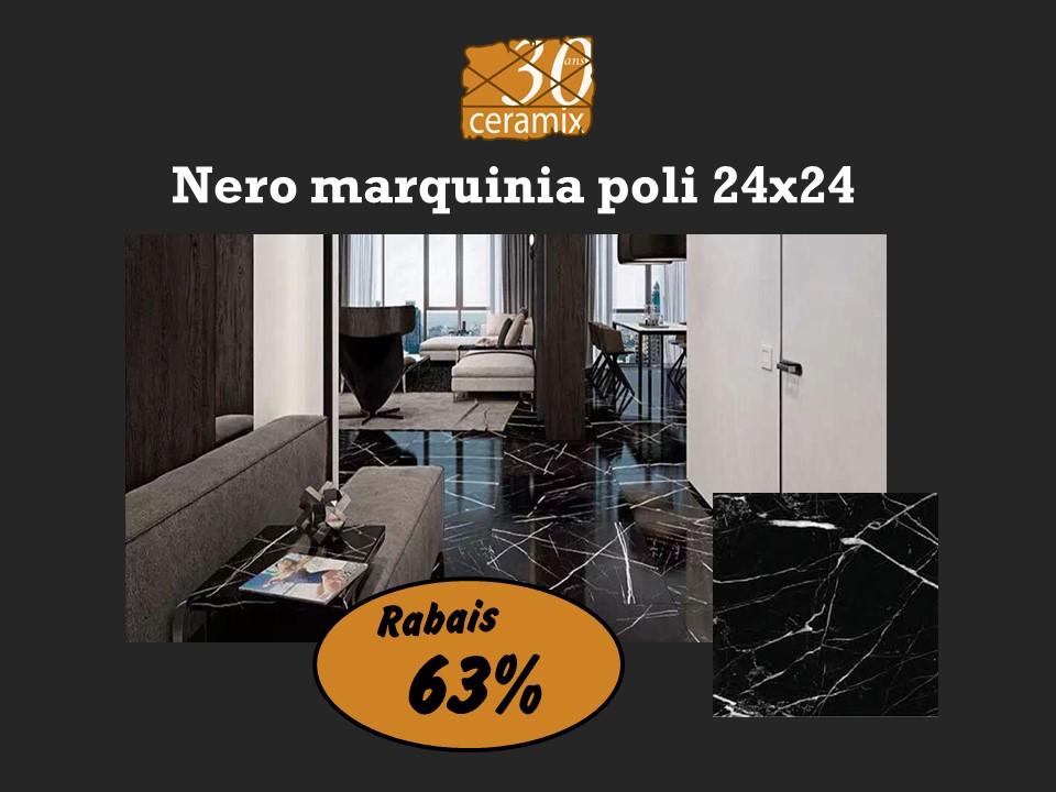 Nero marquinia poli 24x24 - 2,19 $/pc