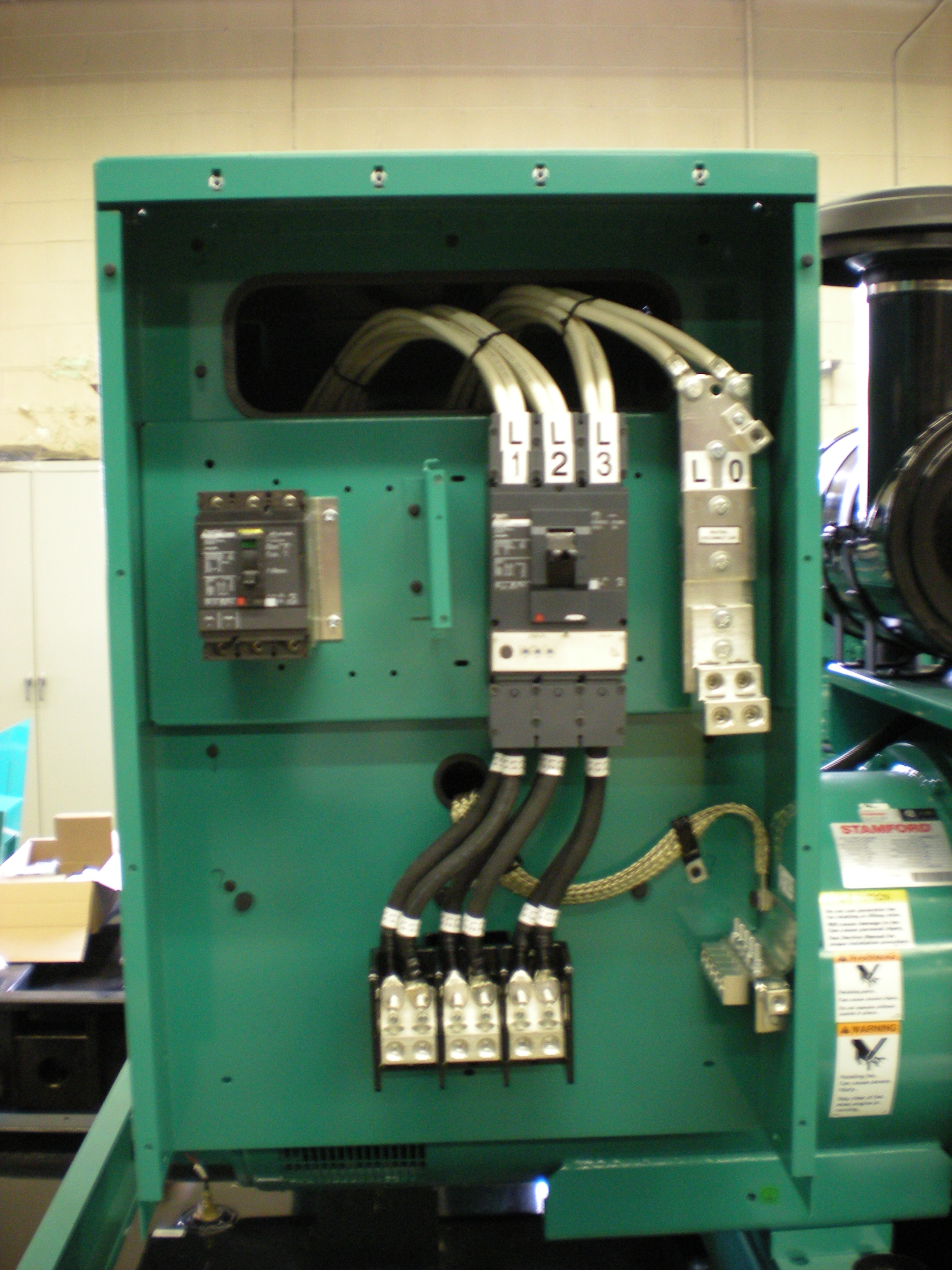 Breaker box interior - partial wiring.JPG