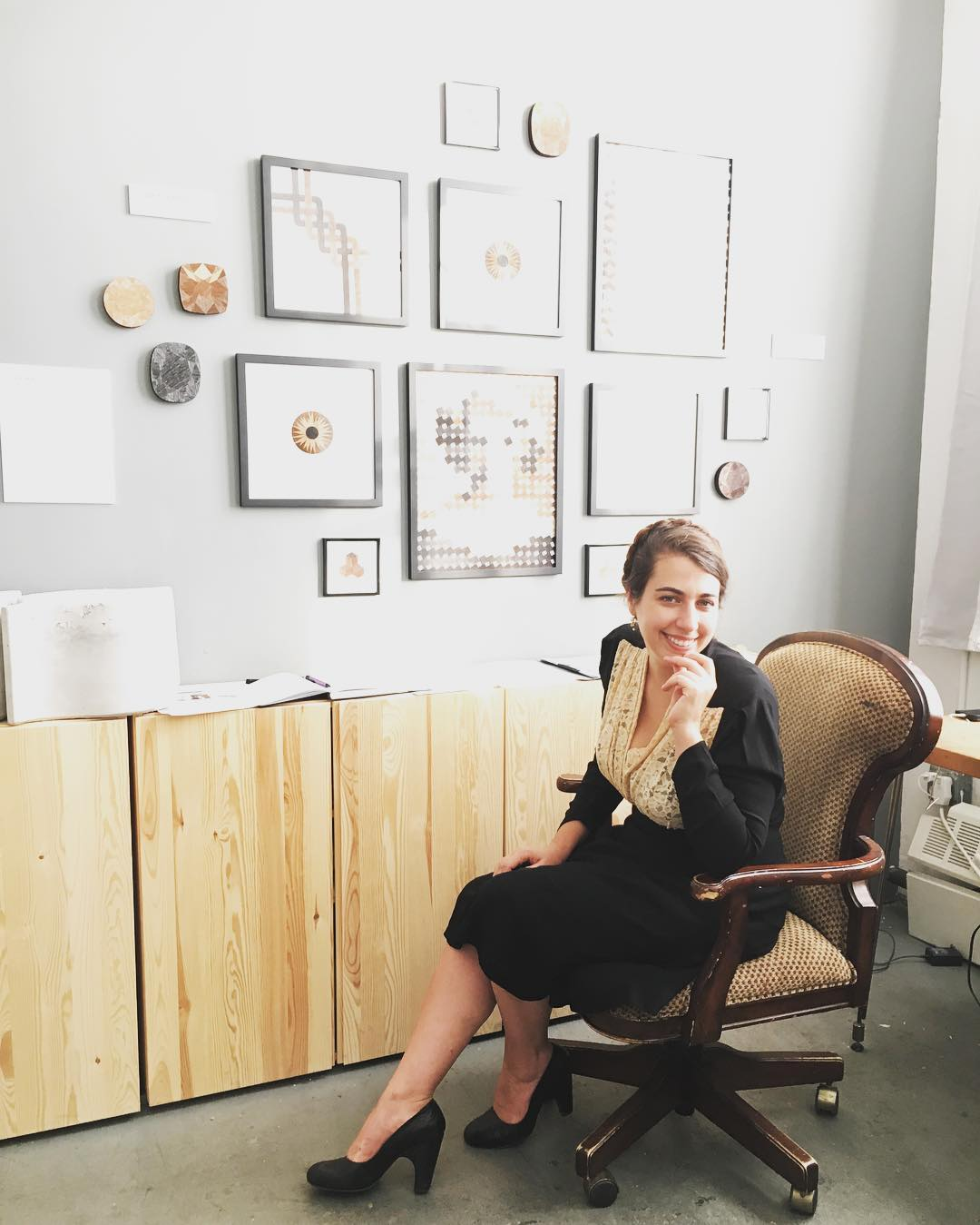 Spencer Merolla in her studio. Photo credit: Lulu Yee
