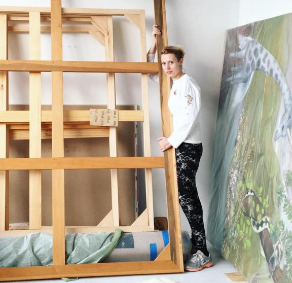 Katerina in her studio