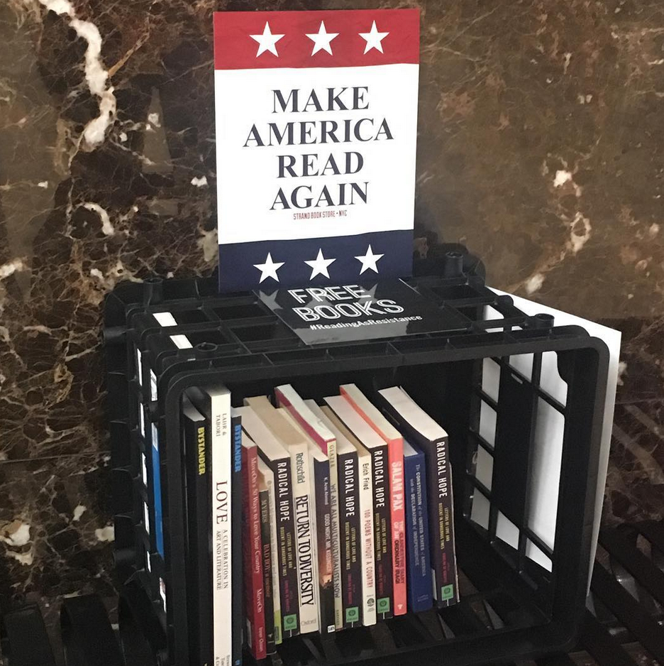 Resistance Library at Trump Tower by Jeff Bergman