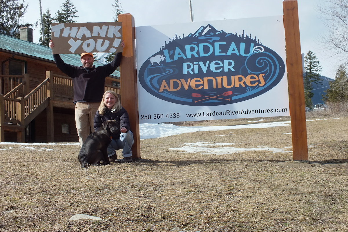 Thank you from Lardeau River Adventures