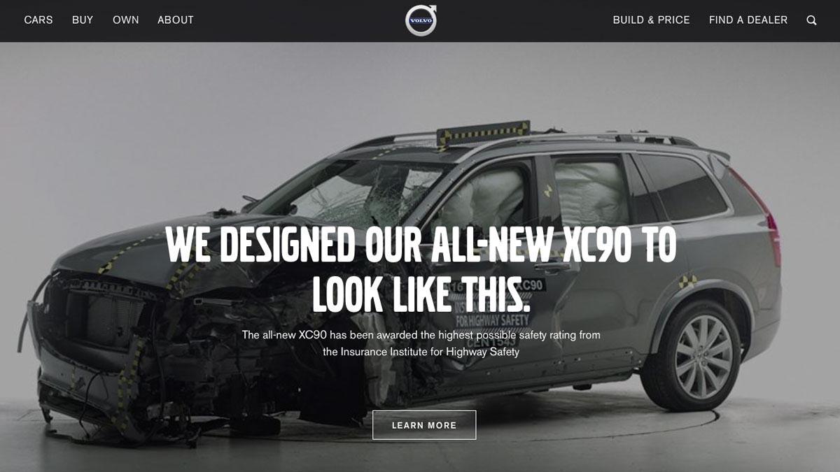screenshot from an auto manufacturer