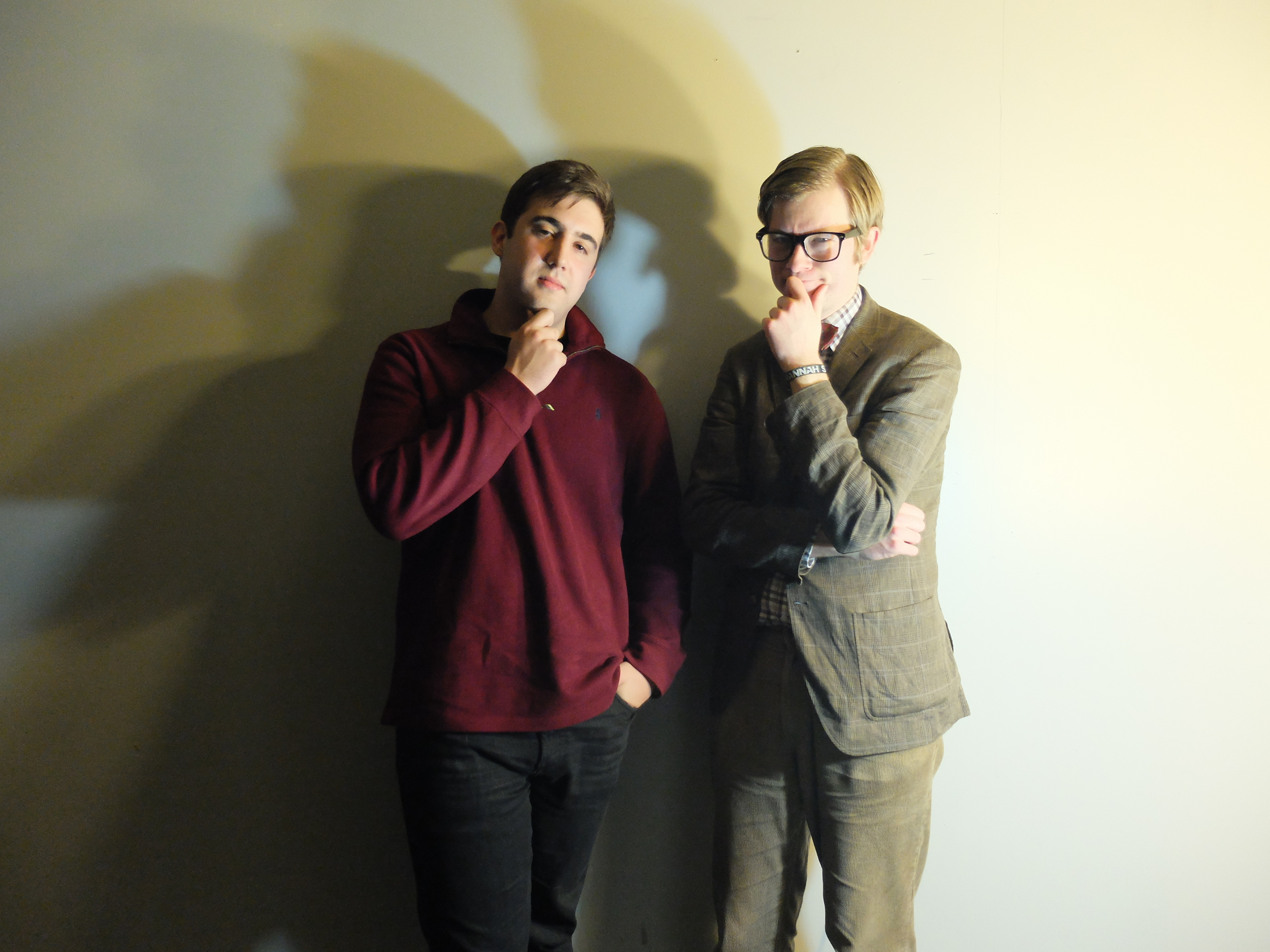J. Willgoose, Esq. from Public Service Broadcasting and I after our interview.  Photograph by Nicole Miller