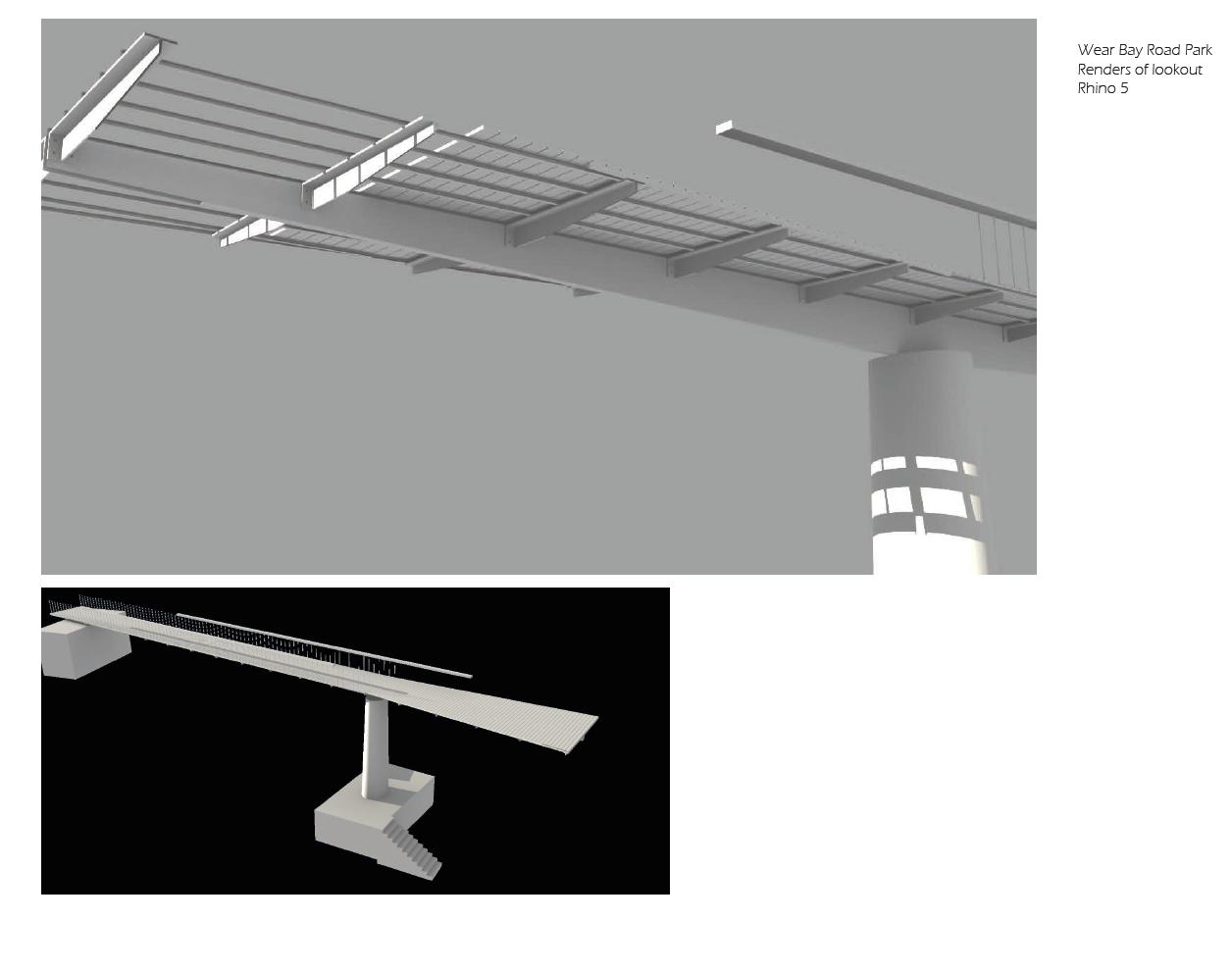 CAD renders of lookout
