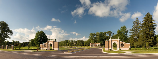 The entrance to Andrews University. Come visit sometime.