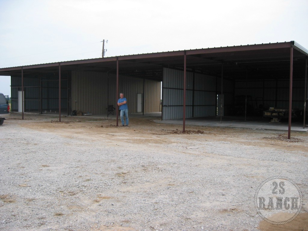 The open barn before we began construction.