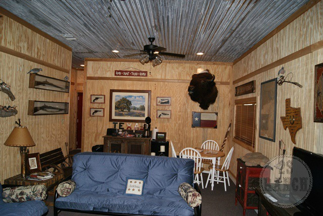 The living room in the Lonesome Dove Hotel.