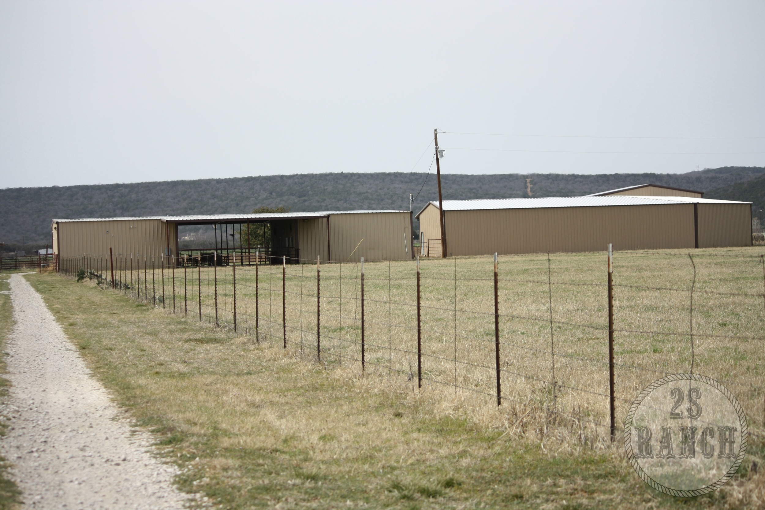 The open-air barn that we converted into our living quarters.