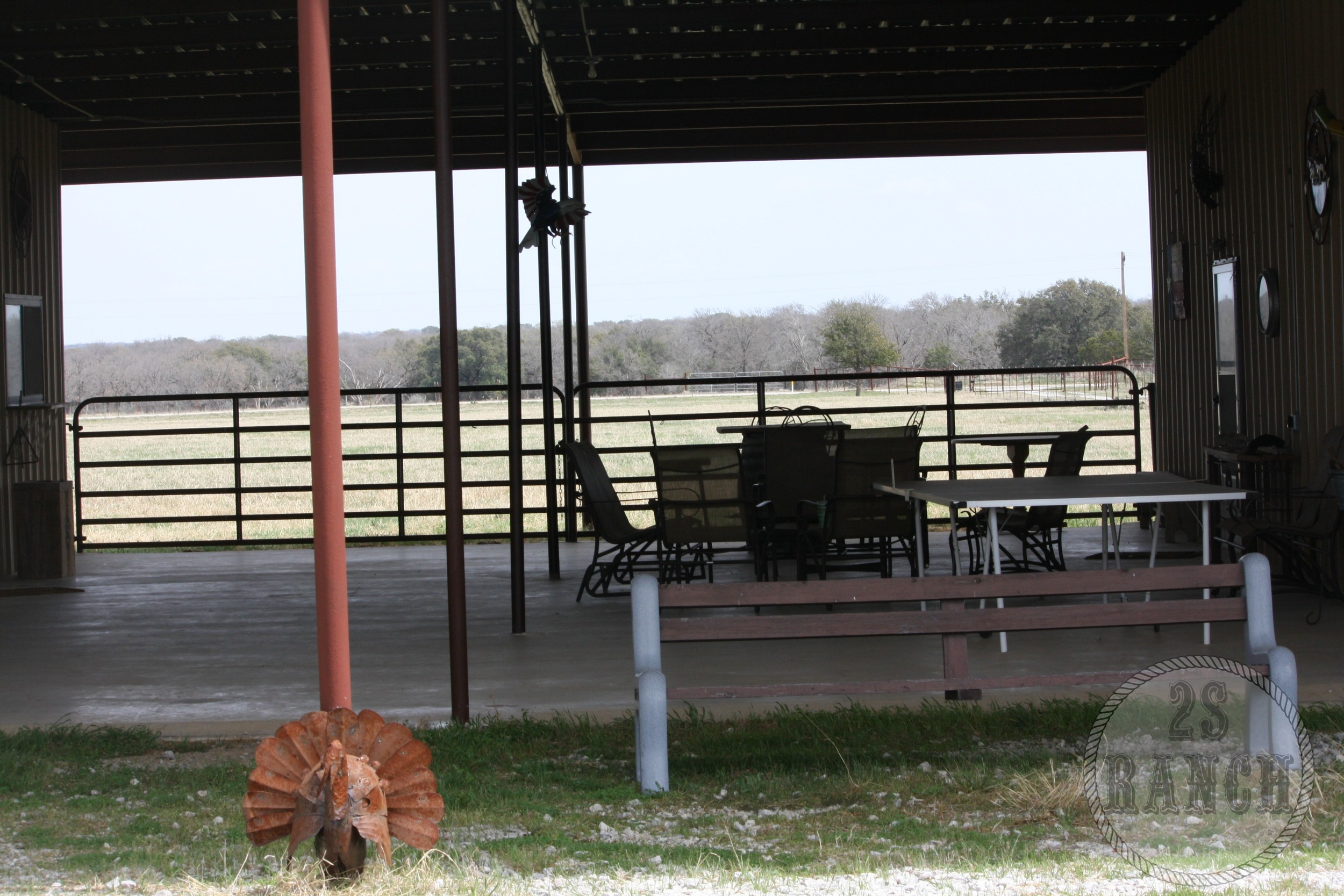 The Breezeway between the Barn Apartment and The Lonesome Dove Hotel.