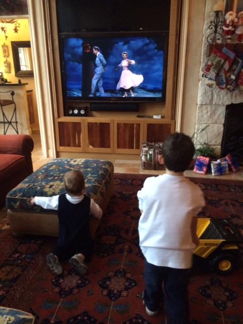 "Two of the little cowboys enjoying ""White Christmas!"""