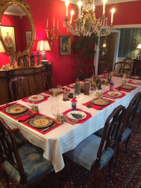 The Christmas Table all set!