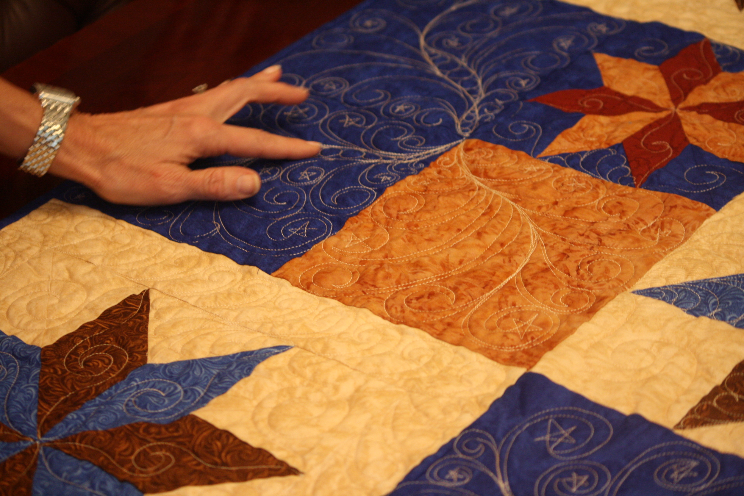 The intricate details on this quilt are magnificent!